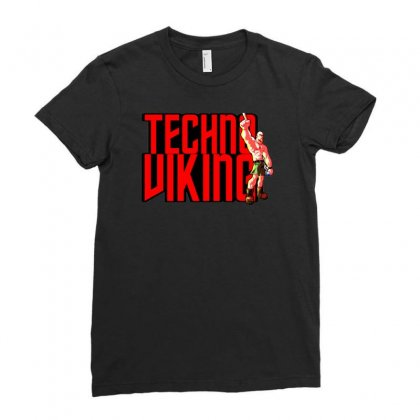 Funny Techno Viking 3, Ideal Birthday Present Or Gift Ladies Fitted T-shirt Designed By H4syim
