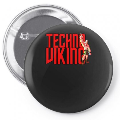 Funny Techno Viking 3, Ideal Birthday Present Or Gift Pin-back Button Designed By H4syim