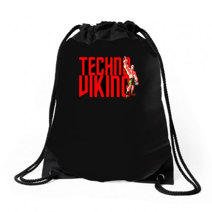 Funny Techno Viking 3, Ideal Birthday Present Or Gift Drawstring Bags Designed By H4syim