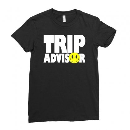 Funny Trip Advisor, Ideal Gift, Birthday Present Ladies Fitted T-shirt Designed By H4syim