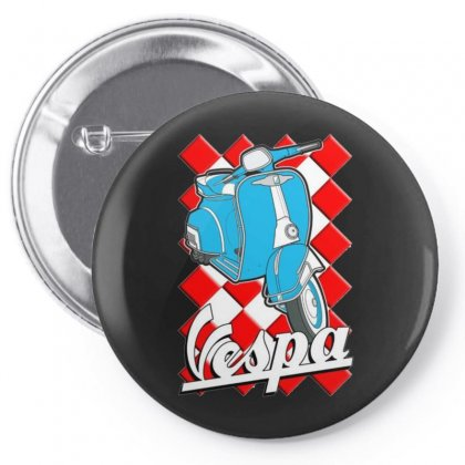 Funny Vespa Chequer Board, Ideal Gift Or Birthday Present Pin-back Button Designed By H4syim