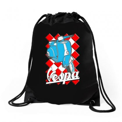 Funny Vespa Chequer Board, Ideal Gift Or Birthday Present Drawstring Bags Designed By H4syim