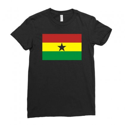 Ghana International Support Your Country  Sport Flag Ladies Fitted T-shirt Designed By H4syim