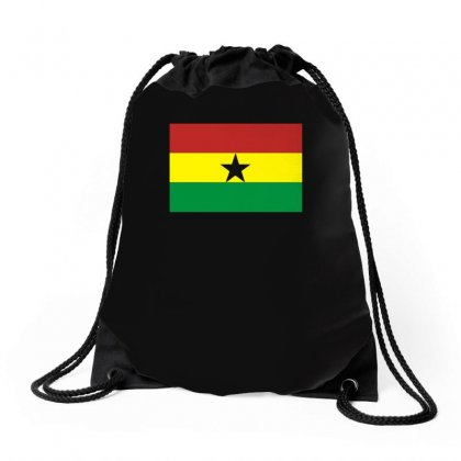 Ghana International Support Your Country  Sport Flag Drawstring Bags Designed By H4syim