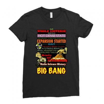 Gildan  Big Bang Theory Lyrics 2, Ideal Gift, Birthday Present Ladies Fitted T-shirt Designed By H4syim