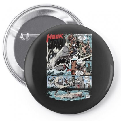 Hook Jaw 1, Ideal Gift Or Birthday Present Pin-back Button Designed By H4syim
