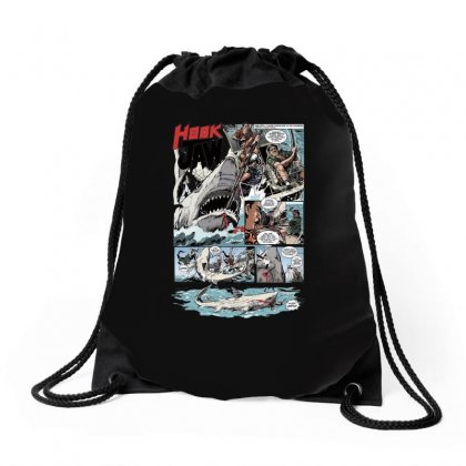 Hook Jaw 1, Ideal Gift Or Birthday Present Drawstring Bags Designed By H4syim