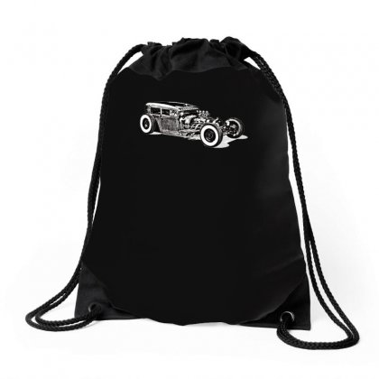 Hot Rod 1, Ideal Birthday Gift Or Present Drawstring Bags Designed By H4syim