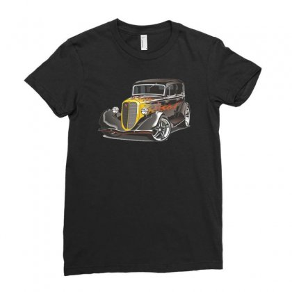 Hot Rod 2, Ideal Birthday Gift Or Present Ladies Fitted T-shirt Designed By H4syim