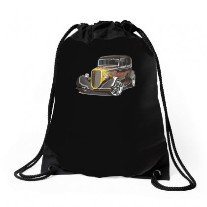 Hot Rod 2, Ideal Birthday Gift Or Present Drawstring Bags Designed By H4syim