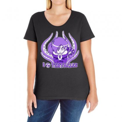 I Love Tentacles Ladies Curvy T-shirt Designed By H4syim