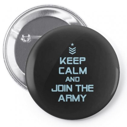 Keep Calm And Join The Army Tshirt Pin-back Button Designed By Hung