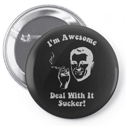 I'm Awesome  Funnycomic Deal With It Party Retro Cool Pin-back Button Designed By H4syim