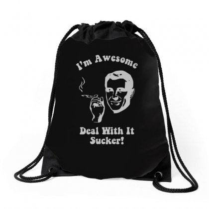 I'm Awesome  Funnycomic Deal With It Party Retro Cool Drawstring Bags Designed By H4syim