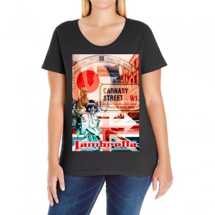 Lambretta Carnaby Street Red Ideal Birthday Present Or Gift Ladies Curvy T-shirt Designed By H4syim