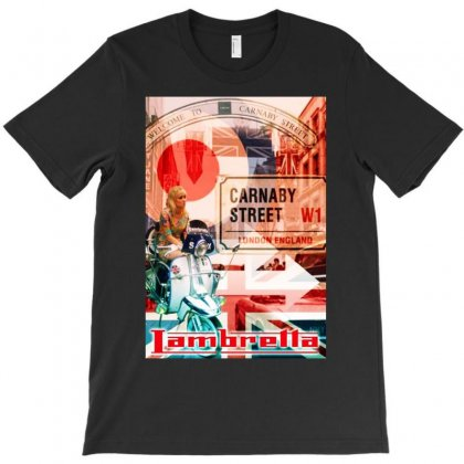 Lambretta Carnaby Street Red Ideal Birthday Present Or Gift T-shirt Designed By H4syim