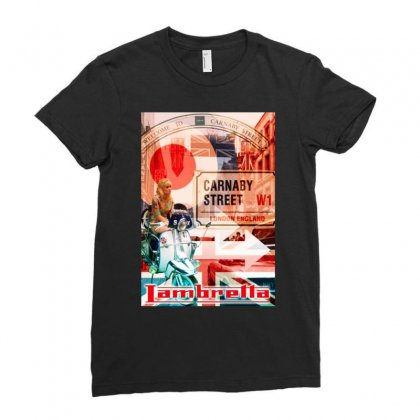 Lambretta Carnaby Street Red Ideal Birthday Present Or Gift Ladies Fitted T-shirt Designed By H4syim