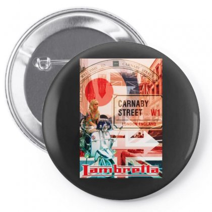 Lambretta Carnaby Street Red Ideal Birthday Present Or Gift Pin-back Button Designed By H4syim