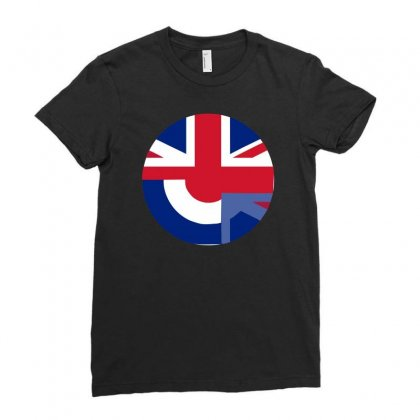 Mod Union Jack, Ideal Gift, Birthday Present Ladies Fitted T-shirt Designed By H4syim