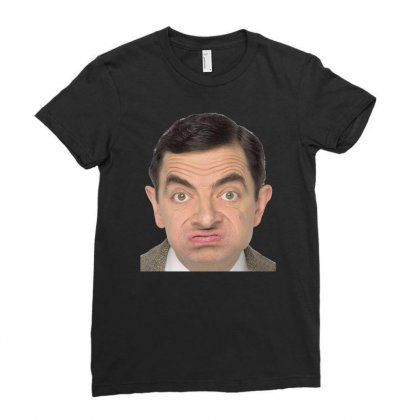 Mr Bean Ideal Birthday Present Or Gift Ladies Fitted T-shirt Designed By H4syim
