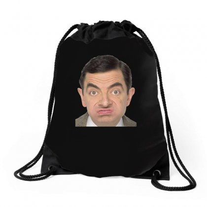Mr Bean Ideal Birthday Present Or Gift Drawstring Bags Designed By H4syim