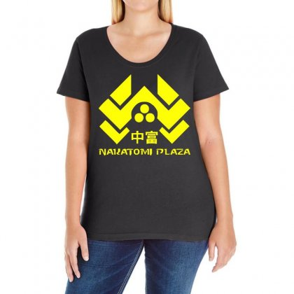 Nakatomi Plaza  Action Movie Funny Ladies Curvy T-shirt Designed By H4syim