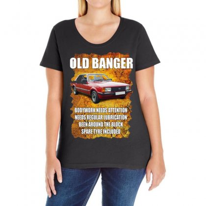 Old Funny Banger Cortina, Ideal Gift Or Christmas Present. Ladies Curvy T-shirt Designed By H4syim