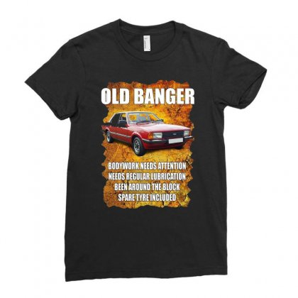 Old Funny Banger Cortina, Ideal Gift Or Christmas Present. Ladies Fitted T-shirt Designed By H4syim