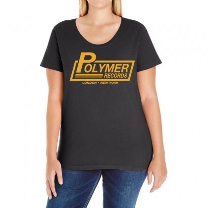 Polymer Records, Ideal Gift Or Birthday Present Funny Ladies Curvy T-shirt Designed By H4syim