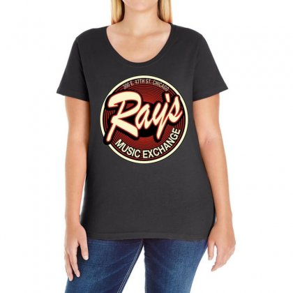 Rays Records Inspired By The Blues Brothers Ideal Birthday Present Ladies Curvy T-shirt Designed By H4syim