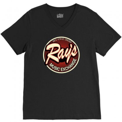 Rays Records Inspired By The Blues Brothers Ideal Birthday Present V-neck Tee Designed By H4syim