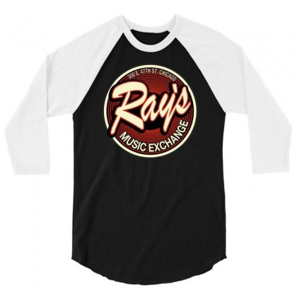 Rays Records Inspired By The Blues Brothers Ideal Birthday Present 3/4 Sleeve Shirt Designed By H4syim