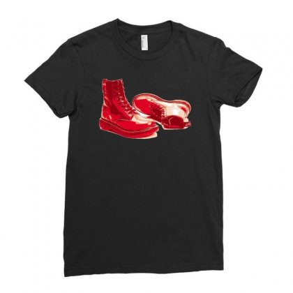 Red Skinhead Bovver Boots Ideal Birthday Gift Or Present Ladies Fitted T-shirt Designed By H4syim