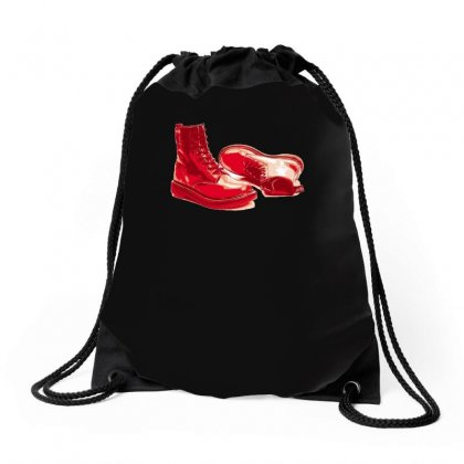 Red Skinhead Bovver Boots Ideal Birthday Gift Or Present Drawstring Bags Designed By H4syim