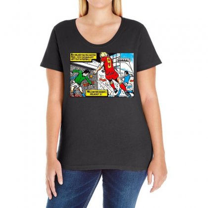 Roy Of The Rovers Ideal Birthday Present Or Gift Ladies Curvy T-shirt Designed By H4syim