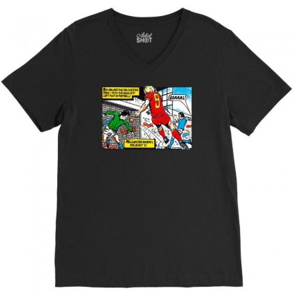 Roy Of The Rovers Ideal Birthday Present Or Gift V-neck Tee Designed By H4syim