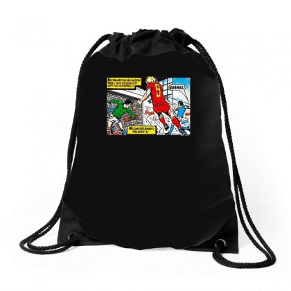 Roy Of The Rovers Ideal Birthday Present Or Gift Drawstring Bags Designed By H4syim