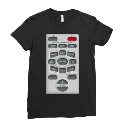 Rude Remote Control, Ideal Funny Birthday Gift Or Present Ladies Fitted T-shirt Designed By H4syim