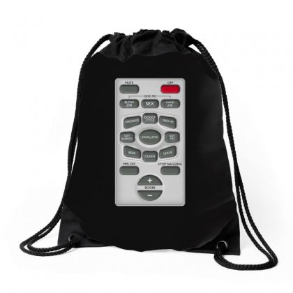 Rude Remote Control, Ideal Funny Birthday Gift Or Present Drawstring Bags Designed By H4syim