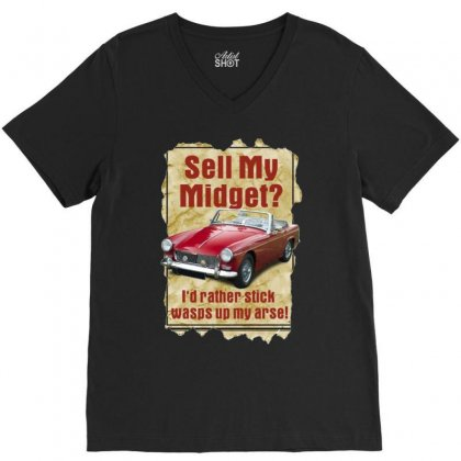 Sell Midget Ideal Birthday Gift Or Present V-neck Tee Designed By H4syim
