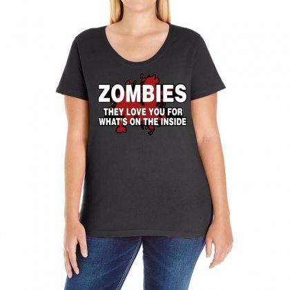 Zombies Love You, Ideal Birthday Gift Or Present Ladies Curvy T-shirt Designed By H4syim