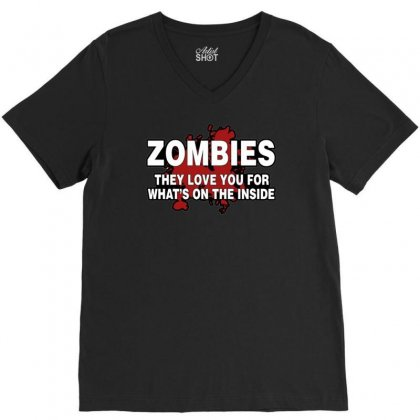 Zombies Love You, Ideal Birthday Gift Or Present V-neck Tee Designed By H4syim