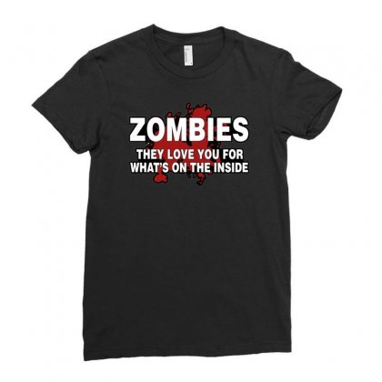 Zombies Love You, Ideal Birthday Gift Or Present Ladies Fitted T-shirt Designed By H4syim