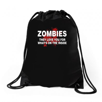 Zombies Love You, Ideal Birthday Gift Or Present Drawstring Bags Designed By H4syim