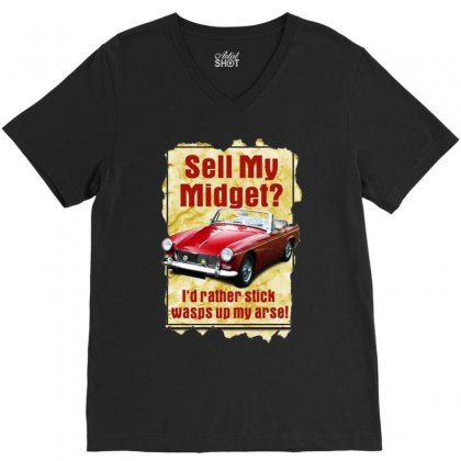 Sell Midget Ideal Christmas Gift Or Present V-neck Tee Designed By H4syim