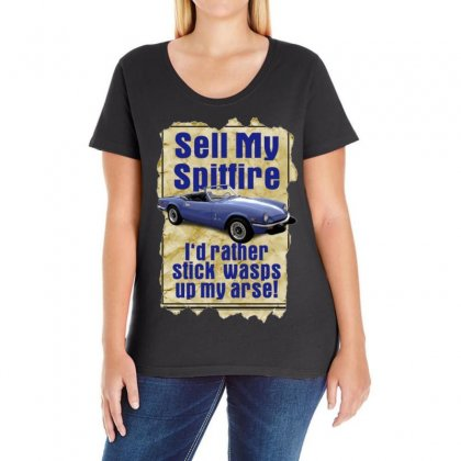 Sell My Spitfire Deal Birthday Gift Or Present Ladies Curvy T-shirt Designed By H4syim