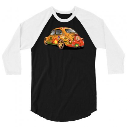 Sixties Vw Beetle, Ideal Gift Or Birthday Present 3/4 Sleeve Shirt Designed By H4syim