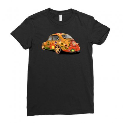 Sixties Vw Beetle, Ideal Gift Or Birthday Present Ladies Fitted T-shirt Designed By H4syim