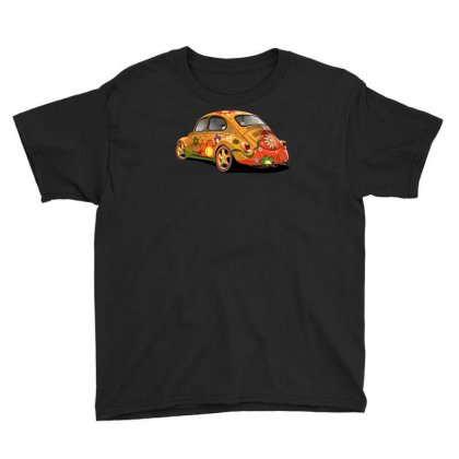 Sixties Vw Beetle, Ideal Gift Or Birthday Present Youth Tee Designed By H4syim