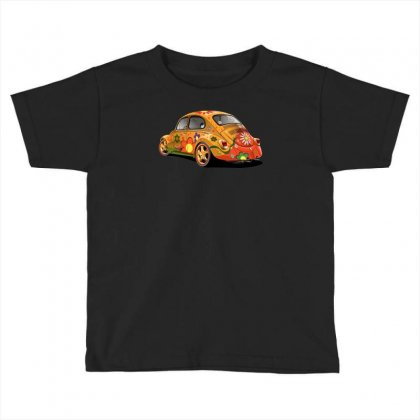 Sixties Vw Beetle, Ideal Gift Or Birthday Present Toddler T-shirt Designed By H4syim